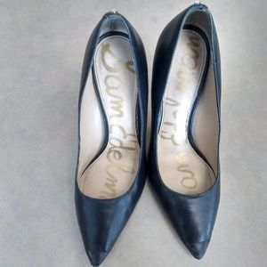 used Sam Edelman Hazel Black Leather Pumps size 7